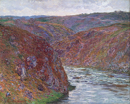 Claude Monet - Valley of the Creuse (Gray Day) - Google Art Project