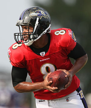 Cleo Lemon - Lemon at Baltimore Ravens training camp in 2009