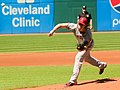 Cleveland Indians vs. Los Angeles of Anaheim (15008299328).jpg