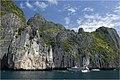 Cliffs at Maya Bay (อ่าวมาหยา) - panoramio.jpg