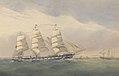 Clipper Ship The Helen Pembroke at sea near a coast RMG PY8586.jpg