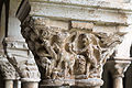 Cloître de la cathédrale Saint Lizier-Chapiteau (Bêtes sauvages)-20150502.jpg