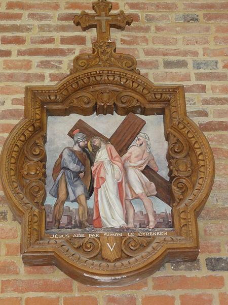 Coingt (Aisne) Église, chemin de croix, station 05