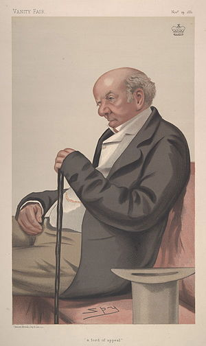 "Colin Blackburn, Baron Blackburn - ""a lord of appeal"". Caricature by Spy published in Vanity Fair in 1881."