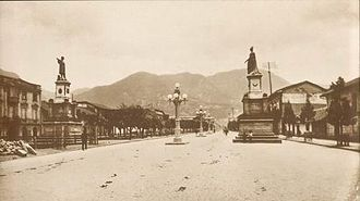 Timeline of Bogotá - Statue of Christopher Columbus, inaugurated in 1906 1920s
