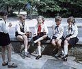 Colorful, pioneer, Little drummer, kids, shoe Fortepan 50826.jpg