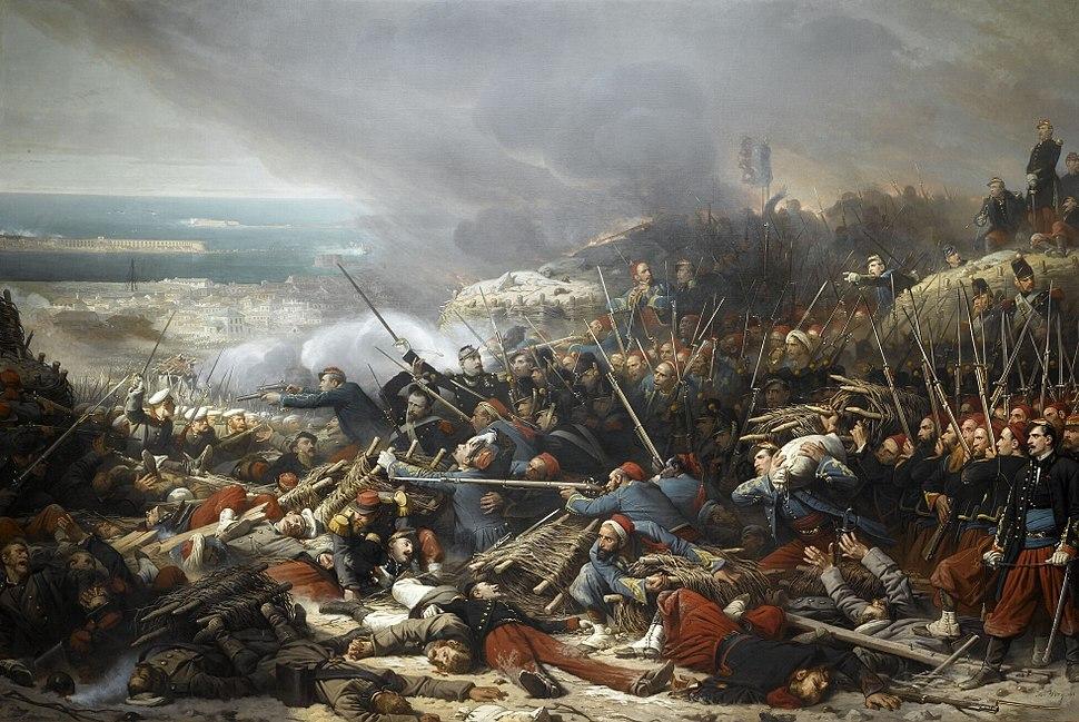 Combat dans la gorge de Malakoff, le 8 septembre 1855 (par Adolphe Yvon)