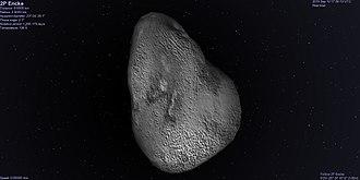 Comet Encke - Image: Comet Encke in Celestia
