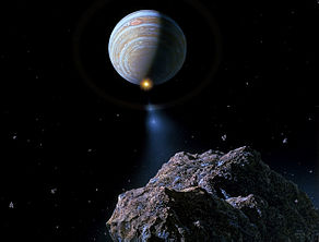 Comet Shoemaker-Levy 9 approaching Jupiter.jpg
