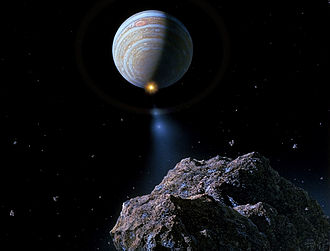 Don Davis (artist) - Comet Shoemaker–Levy 9 approaching Jupiter