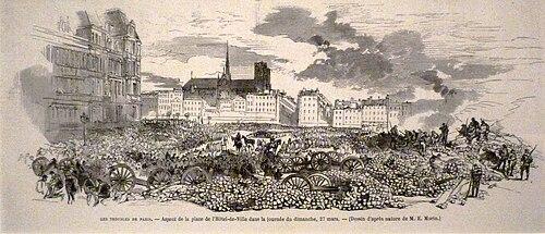 Commune de Paris Hôtel de Ville 27 mars