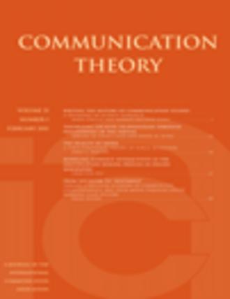 Communication Theory (journal) - Image: Communication Theory