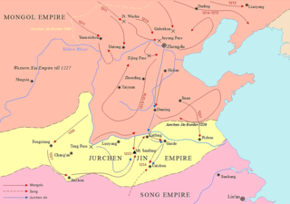 capture of Kaifeng, the capital of the Jurchen Jin Dynasty, by the Mongol Empire