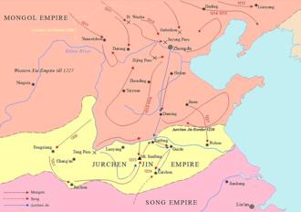 Mongol siege of Kaifeng - Mongol Conquest of Jurchen Jin