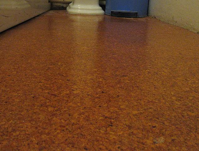 Cork bathroom flooring
