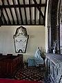 Cornel fechan yn Eglwys Llangadwaladr church, Ynys Mon (Anglesey), Cymru (Wales) 40.jpg