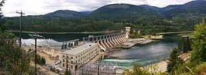 Corra Linn Dam - View of Corra Linn Dam, 2014.