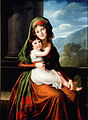 Countess von Schönfeld and her daughter by E.Vigee-Lebrun (1793, Arizona).jpg
