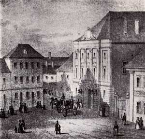 Court Theatre of Buda - The Court Theatre of Buda in the 18th century