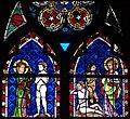 Création d'Adam et création d'Ève, vitrail gothique, cathédrale de Strasbourg.jpg