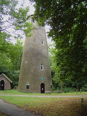 River Crane, London - The Shot Tower in Crane Park
