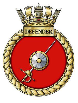 HMS Defender (D36) - Image: Crest of HMS Defender