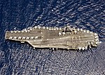 Crew of USS Abraham Lincoln (CVN-72) spelling out RIMPAC 2006 on last day of exercise 060725-N-7981E-170.jpg