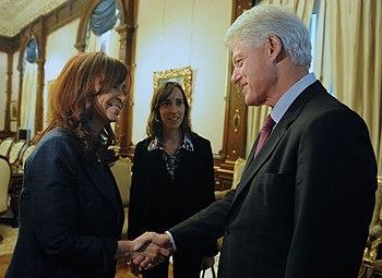 Cristina Fernandez con Bill Clinton