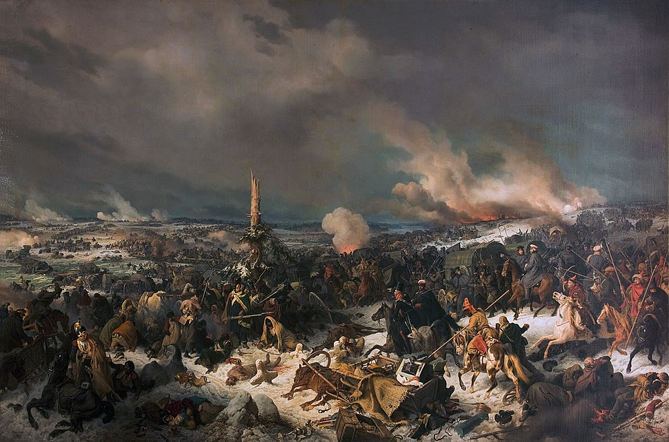 Crossing the Berezina River, by Peter von Hess