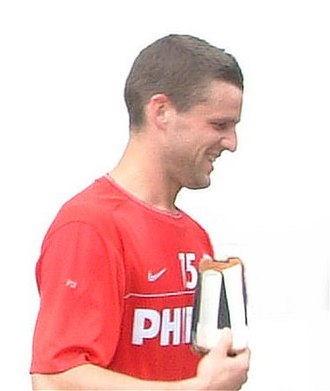 Jason Culina - Culina at a training session with PSV.