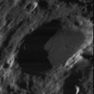 Cusanus (crater) - Oblique view from Lunar Orbiter 4