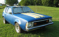 Customized AMC Gremlin hand-painted blue-yellow in Virginia F.jpg