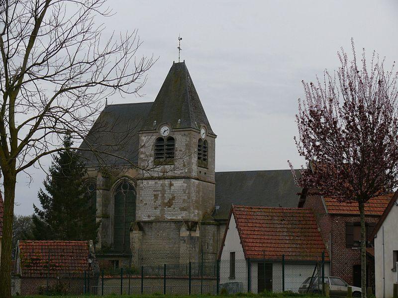 Saint-Eloi's church of Cuvilly (Oise, Picardie, France).