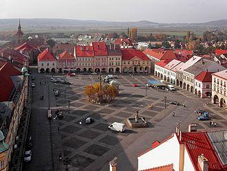 Jičín - Image: Czechia, Jicin, Wallenstein's square aerial