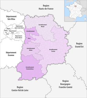 Arrondissements of the Seine-et-Marne department
