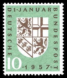 DBP 249 Eingliederung Saarland 10 Pf 1957.jpg
