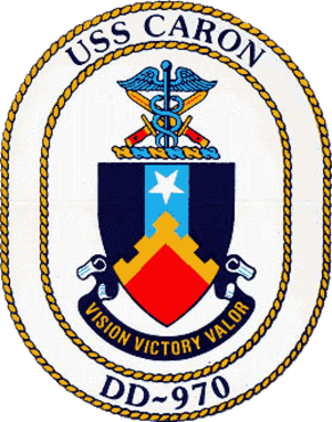 USS Caron - Ship's crest