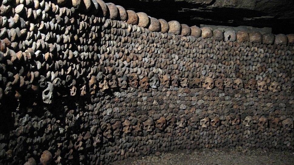 Wall made of skulls