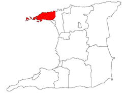 Location of Diego Martin