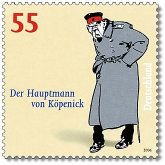 The Captain from Köpenick (1945 film) - German postage stamp, 2006