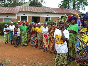 Violence - Meeting of victims of sexual violence in the Democratic Republic of the Congo.