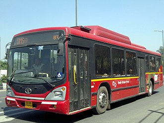 Public transport bus service - DTC TATA AC Buses in India