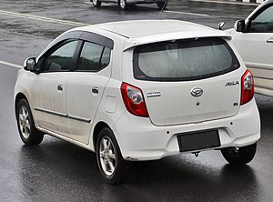Daihatsu Ayla - Image: Daihatsu Ayla rear view
