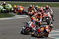 Dani Pedrosa leads the pack 2011 Indianapolis.jpg