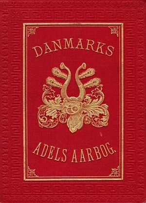 Danish nobility - Cover of Danmarks Adels Aarbog (Yearbook of the Danish Nobility)