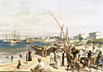 Port of Dar es Salaam - Image of the Port of Dar es Salaam from the book Von Unseren Kolonien by Ottomar Beta in the year 1908