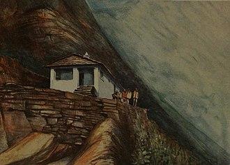 Dharamshala (type of building) - A Dharamshala in Tibet
