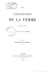 L'émancipation de la femme