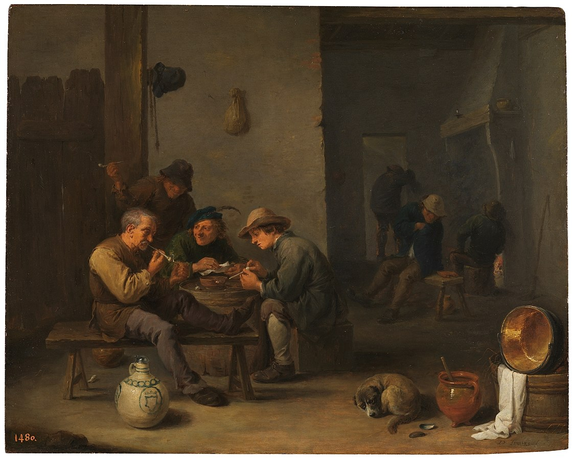 Smokers in a tavern