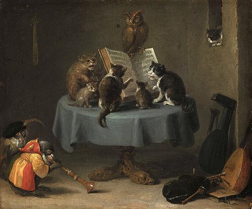 David Teniers der Juengere - Das Katzenkonzert